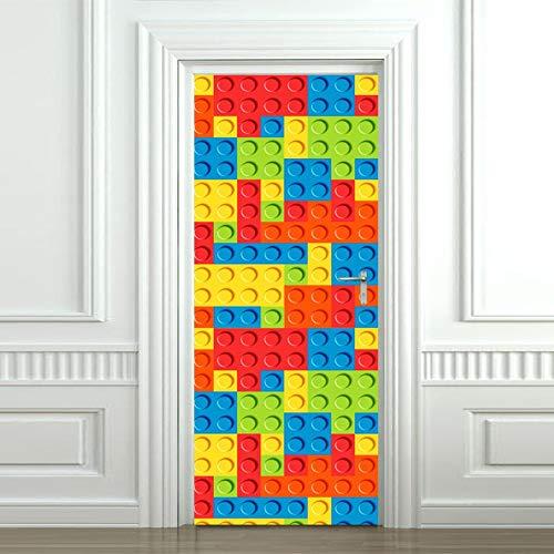 bdpq Etiqueta de la puertaDiy 3D Wall Decal Bloques de...