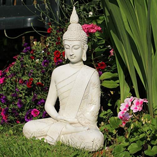 Thai Buddha Weiß Statue groß 40 cm - 5