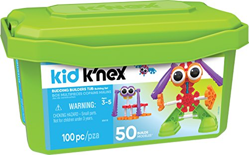Kid K�NEX Budding Builders Building Set for Ages 3 and Up, Preschool Educational Toy, 100 Pieces