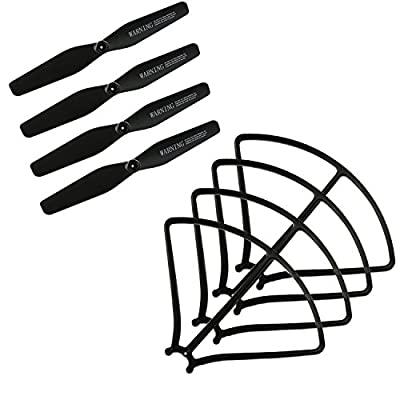 OKPOW Original Main Blade Propellers CW CCW Props Propellers Guards for RC Drones Replacement Accessories RC Quadcopter Spare Parts 8 Pack Black by OKPOW