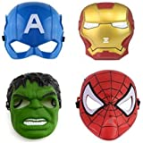 FAVELA Super Hero Cartoon Plastic Mask - Set of 5 Avengers Birthday Party Props Return Gift