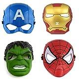 #9: FAVELA Super Hero Cartoon Plastic Mask - Set of 5 Avengers Birthday Party Props Return Gift