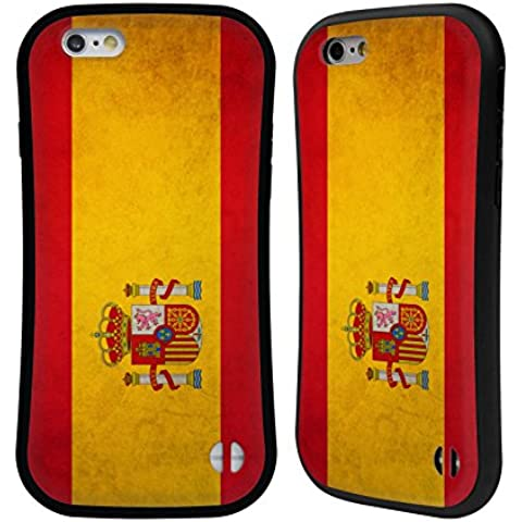 Head Case Designs Español De España Banderas Vintage Caso Híbrido para Apple iPhone 6 / 6s