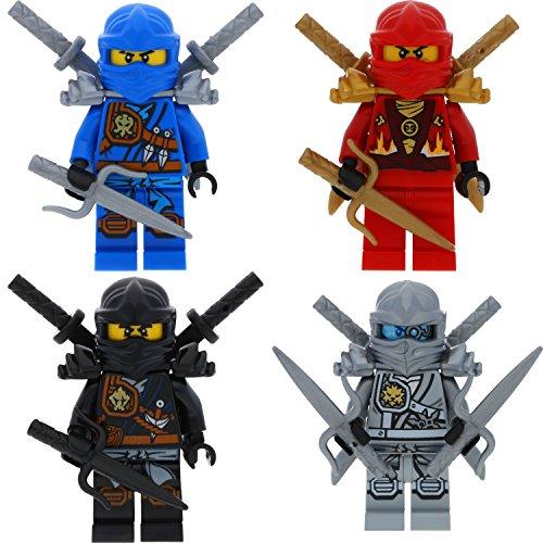 urenset Ultimate 11 - Cole Zane Titanium Kai Jay mit 13 GALAXYARMS Waffen Schwerter (Die Gold-ninja)