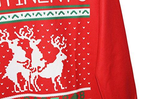 NiSeng Sweaters Blouson Manches longues Pull de Noel Rond Col Jumper Hauts Tops Christmas sweatshirt pour femme homme Style 15