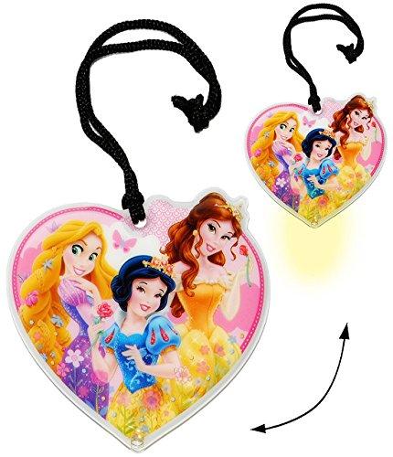 Flache _ Taschenlampe LED -  Disney Princess  - Taschenleuchte / Rapunzel - Schneewittchen - Belle - für Kinder Lampe Projektor - Licht Auto Kindertaschenla.. (Rapunzel Schneewittchen Und)
