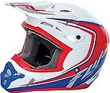 Fly Racing Helm Kinetic Fullspeed Weiß Gr. M