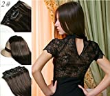 Romantic Angels®100% Remy-Echthaar Clip In Extensions Set 10 teilig 120g Haarverlängerung 50 cm dunkelbraun#2