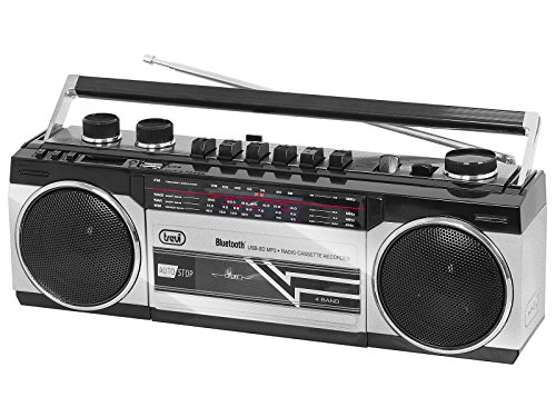 Trevi RR 501 BT Radio Registratore a Cassette con Bluetooth e Funzione Encoding, Silver