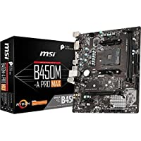 MSI ProSeries AMD Ryzen 2ND and 3rd Gen AM4 M.2 USB 3 DDR4 D-Sub DVI HDMI Crossfire ATX Motherboard (B450-A Pro Max) (B450APROMAX)