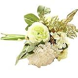 Quaan Kunstblumen,Künstliche Fake Blumen Dahlie Blumenstrauß Blumen Hochzeit Bouquet Party Home Decor (Weißgrün)