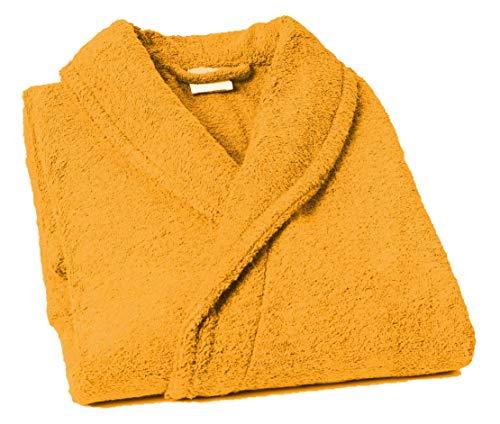 Home Basic - Albornoz con Cuello Tipo Smoking, Talla S, Color Oro