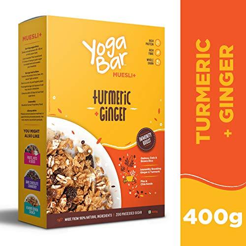Yogabar Wholegrain Breakfast Muesli - Turmeric + Ginger, 400g