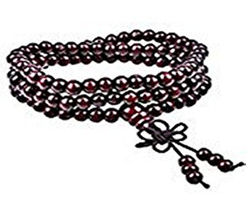 Rosenholz Mala Buddhistische Gebetskette 108 6 mm Rosenkranz Holz Armband 93 cm (Holz Rosenkranz Armband)