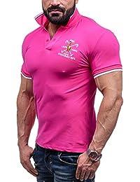 BOLF Hombre Camiseta Polo Cuello Manga Corta LT 4020