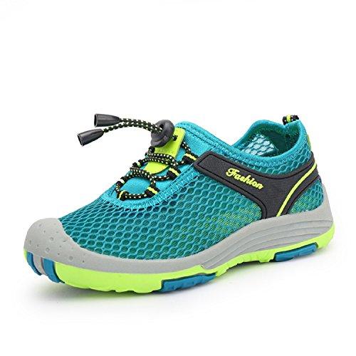 Kischers estive esterni mesh traspirante casual sneakers sandali sportivi scarpe da trekking running passeggiata donna ragazzo bambina (39, turchese)