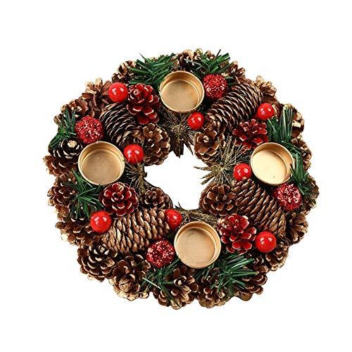 Corona de Navidad de pino