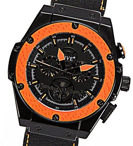 Sportliche-Robuste-3D-Design-Orangene-Manufaktur-Herrenarmbanduhr-Assassin-Selektion