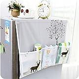asentechuk® Transparente Impresión para frigorífico, impermeable bolsa de almacenamiento frigorífico cubierta colgar bolsa de polvo, PEVA, Deer, 129 x 54cm