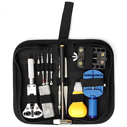 TAOtTAO 14 Stücke Reparieren Sie den Reparatursatz des Öffners Uhr Reparatur Zurück Fall Pin Link Spring Strap Remover Opener Tool Kit Set