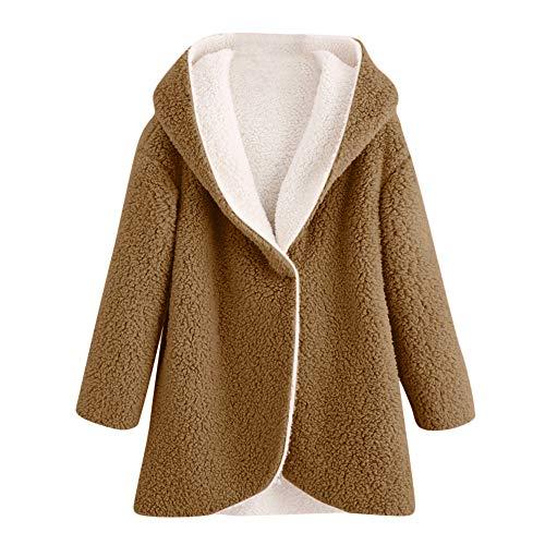 Darringls Chaqueta Mujer Elegantes,Abrigos Sudadera con Capucha cálido Chaqueta Cárdigan Solapa Parka Color sólido para Mujer