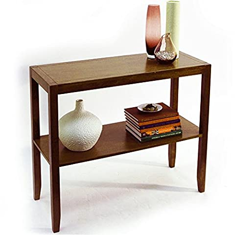 ANYWHERE - Table basse console en massif - finition noyer