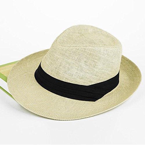 Zxwzzz Hüte Huts Sonnenhut Herren Sommer großen Hut Mesh atmungsaktiver Strohhut (Color : A)