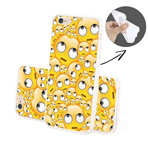 Emoji - Molti Emoji SILICONE, iPhone 6/6S Plus Riflessivo Emoji SILICONE