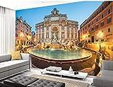 WH-PORP 3D Tapete Benutzerdefinierte Italien Tapete Trevi Brunnen 3D Wallpaper Wandbild Für Wohnzimmer Schlafzimmer Cafe Hintergrund Wand Wasserdichte Pvc Tapete-250cmX175cm