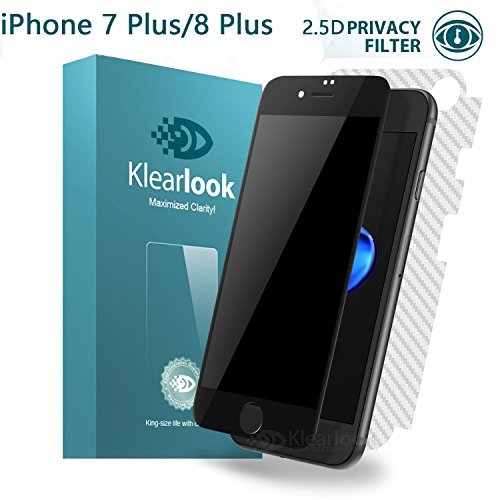 san francisco d19c5 f3526 iPhone 7 Plus/iPhone 8 Plus Screen Protector, Klearlook® [Case Friendly]  Edge-to-Edge Anti-Spy and Peeping Privacy Proof Premium Tempered Glass with  ...