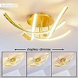 Extravagante LED Deckenleuchte Aranu – Edle Deckenlampe in Goldfarben – 4-flammige Zimmerlampe – stufenlos dimmbar – 3000 Kelvin – 2152 Lumen