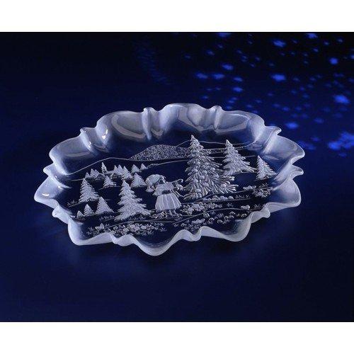 Walther Glas 1205024 Weihnachtstraum Stollenplatte 440 mm, Satin