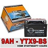 Motorrad Batterie 9Ah - YTX9-BS AGM GEL CTX9-BS GTX9-BS 50812