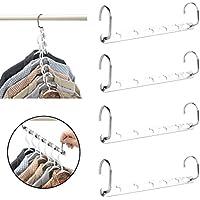 Yeelan meraviglia appendiabiti armadio abbigliamento in Metallo (set di 4)
