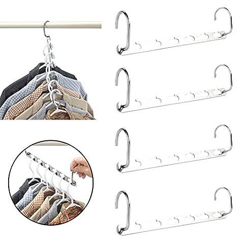 Yeelan Wonder Vêtements Penderie Cintres métal Vêtements Organizer (set of