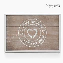 Bandeja de madera I Love Home Juego de 2~ 0916