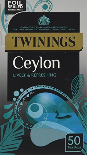 Twinings Ceylon 50 Teabags (Pack of 4,Total 200 Teabags)