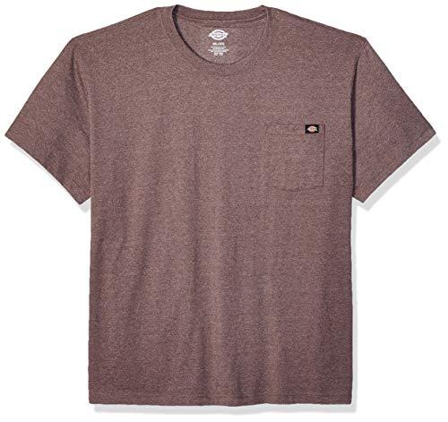 Dickies Herren Short Sleeve Heavyweight Heathered Crew Neck Tee Big T-Shirt, Chocolate Brown Single Dye Heather, 4X