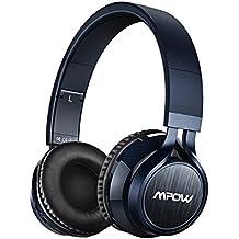 Mpow Thor, Auriculares de Diadema Cascos Bluetooth Inalámbrico con Micrófono 12H Reproducción Audio de Alta Resolución Casco Plegable Sin Cable Manos Libres y Cable de Audio para TV, PC, Movil, Mac