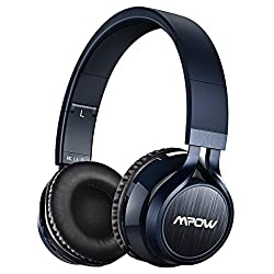 Over Ear Headphones [Upgraded Version] Mpow Foldable Bluetooth Headphones Over The Head Wireless Headphones With Microphone For Smartphone Tv Ipad Laptop Mp3 (Carrying Bag Included)
