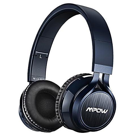 【Upgraded Version】Mpow Thor Bluetooth Headset, bluetooth kopfhoerer on ear Wireless kopfhoerer over ear mit Mikrofon für PC, iPhone, iPad, iPod, Laptop und MP3-blau.(Hohe-Auflösung Audio& 8 Stunden Spielzeit, Tragetasche