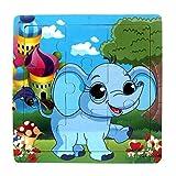 XuBa 1 Stück 19 mischen Tiere Formen Stichsäge Heiße Holzspielzeug Für Kinder Baby Kinder Intelligenz Pädagogisches Cartoon Fallout spielzeug Puzzle 4