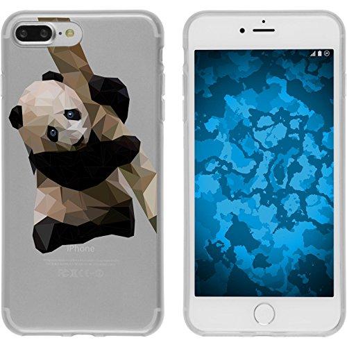 PhoneNatic Case für Apple iPhone 8 Plus Silikon-Hülle Vektor Tiere M4 Case iPhone 8 Plus Tasche + 2 Schutzfolien Design:04
