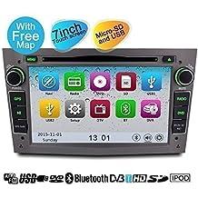 YINUO 7 Pulgadas 2DIN In Dash Pantalla Táctil Navegación GPS/ Reproductor De DVD Blutooth De Coche Para Vauxhall / Opel Corsa 2006-2011 / Vectra 2005-2008 / Antara 2006-2011 / Meriva 2006-2008 / Astra 2004-2009 / Vivaro 2006-2010 / Zafira 2005-2010 IPOD Hasta Iphone 6P Y USB/SD Función Gris