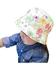 Smile YKK colorido elefante algodón para bebé al aire libre cubo sombrero