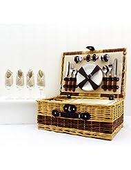 Buxton 4 persona cesta de picnic de mimbre