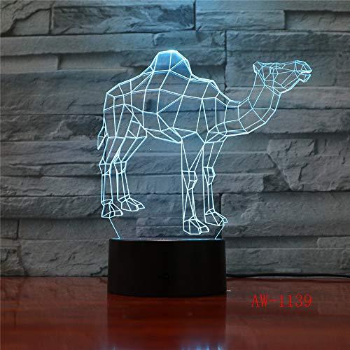 Visuelle Illusion Lichter Bulldogge Pudel Jack Russell Terrier Rottweiler Dobermann LED Kind Nachtlicht Hund Schreibtisch Licht 7 No Controller -