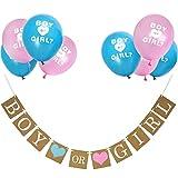 Boy or Girl Banner und Geschlecht Offenbaren Ballons Set für Baby Dusche Geschlecht Zeigen Party Schwangerschaft Ankündigung