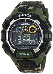 Timex Shock Digital Grey Dial Mens Watch - T49971