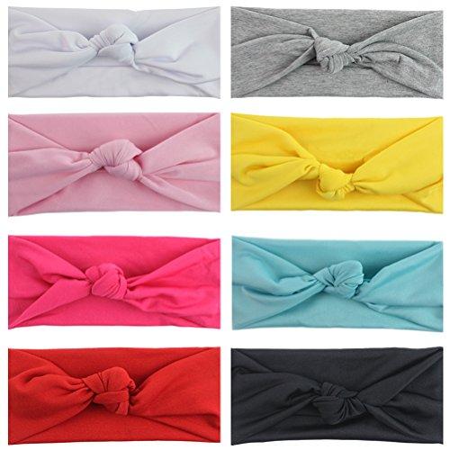 set-di-8-pezzi-fascia-capelli-bambino-unisex-fiocco-turbante-elastico-colore-puro-accessorio-capelli